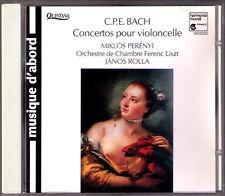 Miklos PERENYI Carl Philipp Emanuel BACH 3 Cello Concerto CD Janos ROLLA CPE
