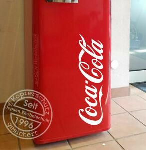 Aufkleber Coca Cola 50cm für ihren Kühlschrank Auto Tür Fenster... Farbauswahl