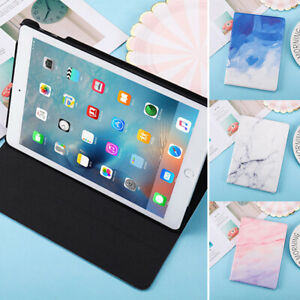 For iPad Pro Mini 1 2 3 4 5 Shockproof Protective Smart Marble Print Case Cover