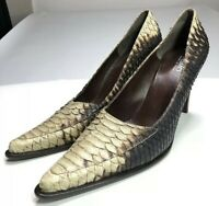 DESMO Python LEATHER SHOES B ITALY Size 39
