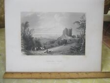 Vintage Print,LICHTENSTEIN CASTLE,Engraving,WH.Bartlett,Turkey+Greace