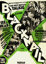Blackmail (1929) Alfred Hitchcock Anny Ondra movie poster print 2
