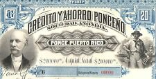 SUPERB REPRINT (COPIA) HUGE MINDBLOWING 1893 PUERTO RICO BANK BOND! MASTERPIECE!