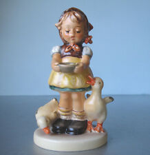 """Hummel Goebel Be Patient #197/2/0 Tmk-5 Girl with Geese 4.5""""H Museum Archive"""