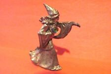 Pewter Wizard With A Crystal Ball