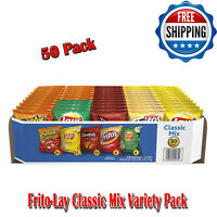 50 Pack Frito-Lay Classic Mix Variety, Snacks, Chips, Includes Five Varieties