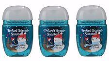 Bath & Body Works Hand Sanitizer PocketBac Frosted Coconut Snowball 3 Piece Set