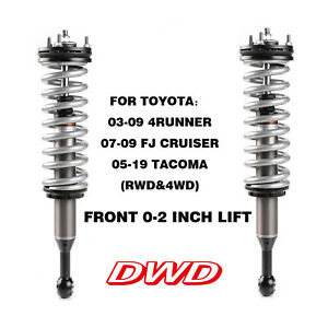Front Left Complete Load Strut /& Coil Spring For 2003-2020 Toyota 4Runner