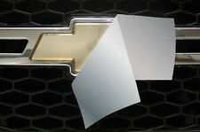 Chevy Vinyl Sheet x2 fits Chevy Bowtie Emblem Logo 3M SILVER Decals U-CUT Trim