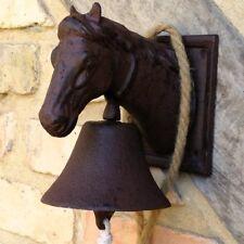 Glocke mit Pferdekopf - Türglocke, ländliche kunsthandwerkliche Gartenglocke