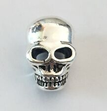 Silver Plated Skull Head Charm For Bracelets