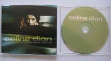 CELINE DION I drove all night 1-track PR0M0 CD Single * slimline case