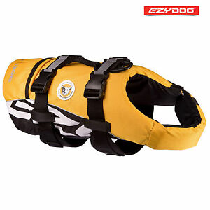 EZYDOG DOG FLOTATION DEVICE - Life Jackets For Dogs - Yellow Large FLOAT
