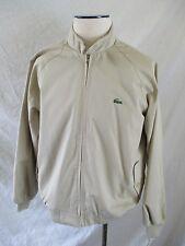 LACOSTE deadstock 80s tan cotton twill golf windbreaker jacket LARGE NEW