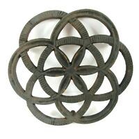 Cast Iron Trivet Hot Plate Footed Vintage