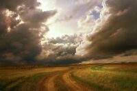 """perfect 36x24 oil painting handpainted on canvas""""Stormy Skies"""" NO4406"""