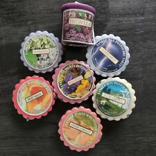 Yankee Candle 6 Wrapped Tarts 1 Votive Retired Lot