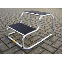 Milenco Aluminium Rubber Top Double Step Non Slip Caravan Motorhome