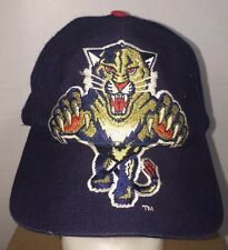 VTG Florida Panthers w Big Logos SnapBack Hat Cap Wool Blend Vintage NHL