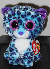"Ty Beanie Boos - Lizzie the 6"" Leopard Claires Exclusive ~ 2016 New Mwmt In Hand"