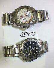 SEIKO 5 SPORTS Watches automatic 7S36, Made In Japan Job Lot 2pcs Big Size Steel