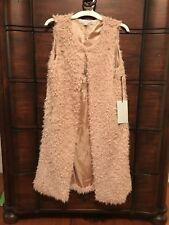 womens faux fur vest small