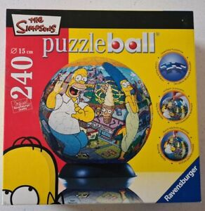 """Ravensburger """"The Simpsons"""" 240 Piece Puzzle Ball Puzzle Rare. 2008 NEW!"""