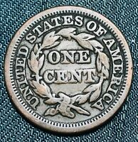 1847 Large Cent Matron Braided Hair 1C Higher Grade Good US Copper Coin CC4426