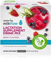 UpSpring Baby Milkflow Lactation Drink Mix Support Breastfeeding (Berry)18 Count