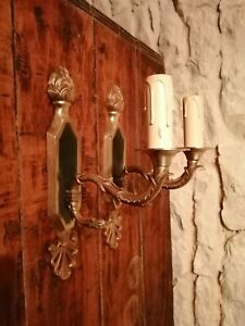 Vintage French Wall Lights x 2