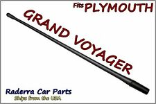 "FITS: 1984-1996 Plymouth Grand Voyager - 13"" SHORT Flexible Rubber Antenna Mast"