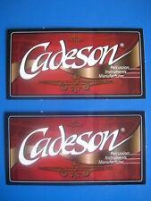 2 x Aufkleber - CADESON Percussion, unbenutzt