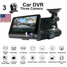 1080P Car DVR Dual Lens Dash Cam Front and Rear Video Recorder Camera G-sensor