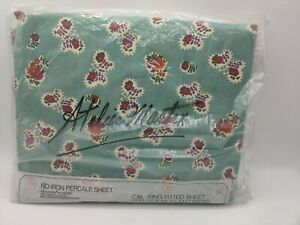 Vintage Atelier Martex Cal King Fitted Sheet Floral Butterfly Paisley No-Iron