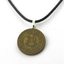 Collier pièce de monnaie Tunisie 20 millimes