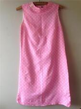 VINTAGE 1960s A Pois Rosa Mini mod TURNO Scooter Union etichetta dress uk8 10