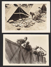2-Camp Cooke-Military-California-Pup Tent Inspection-Wall-Photo Postcard Lot