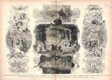 Voyage Prince de Galles Inde Bombay Chasse éléphant Prince Baroda GRAVURE 1875