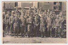(f1000) ORIG. foto gruppo Wehrmacht-soldati prima edificio, 1940er
