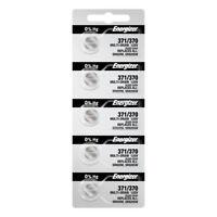 5 Pack Energizer 371 370 Sr920sw Watch Batteries Battery Oxide Silver 1 Sr920w