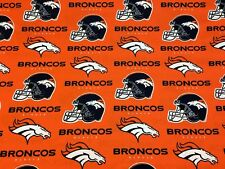 "DENVER BRONCOS NFL 60"" WIDE COTTON FABRIC BY THE YARD Fabric Traditions O"