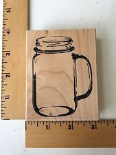 Impression Obsession Rubber Stamp - Mason Glass - E9266 - NEW