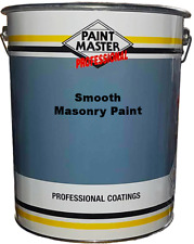 20LTR WHITE ACRYLIC SMOOTH EXTERIOR MASONRY WALL & HOUSE PAINT !!! HIGH QUALITY.