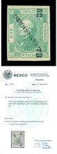 MEXICO 1872  HIDALGO  6c green  Wmk LA+F   Scott # 81a mint MH VF-XF  w/Cert.  R