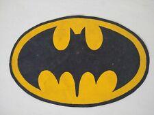 """VINTAGE BATMAN DC 1989 LARGE LOGO CLOTH PATCH 10"""" LONG ARGENTINA RARE!"""