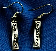Madonna I'M Breathless Promo Enamel Gold Earrings / Icon Fan Club 1990 Boy Toy