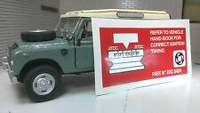 LAND Rover Serie 2 2A 3 MOTORE ACCENSIONE TIMING informazioni etichetta Decalcomania erc5424