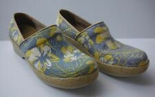 WOMENS DANSKO BLUE Flower CLOGS NURSE SLIP-RESISTANT SHOES SIZE 40/ 9.5-10