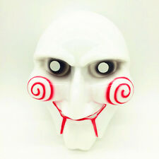 Scary Mask Halloween Cosplay Costume Clown Doll Fun Dress Saw Puppet Party Props