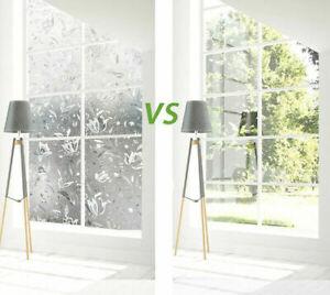 60/90cm Fensterfolie Statische Sichtschutzfolie Milchglasfolie Glasdekorfolie